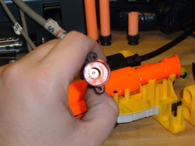how to make a nerf laser sight