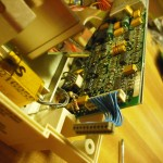 Rear end of control board