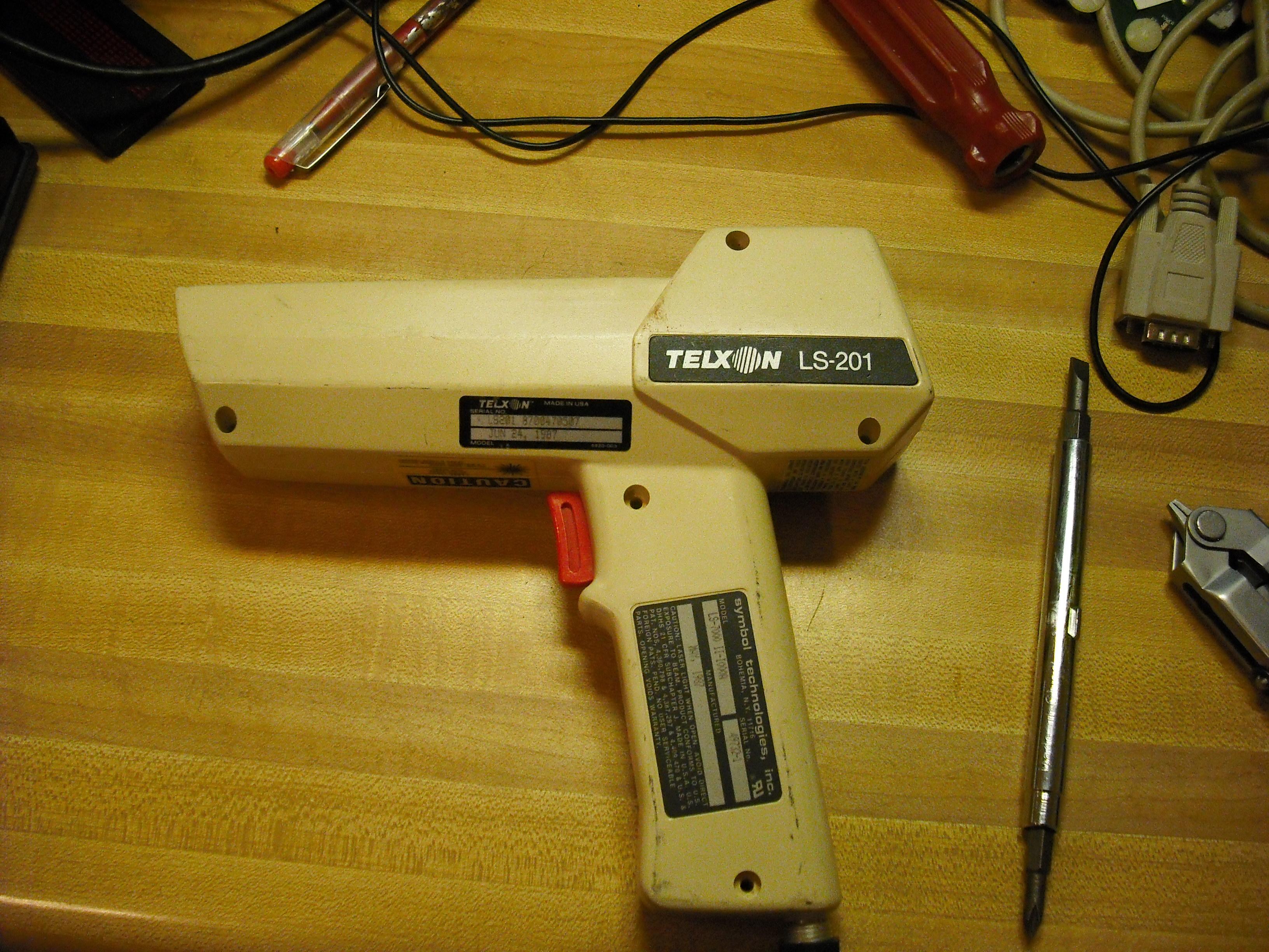 how to use a telxon gun