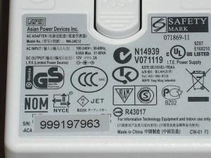 universal plug sticker