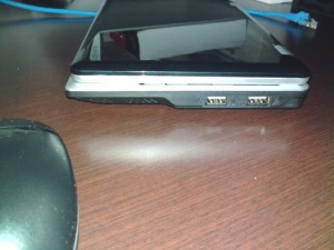 Right side of netbook