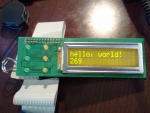 LCD Test Run