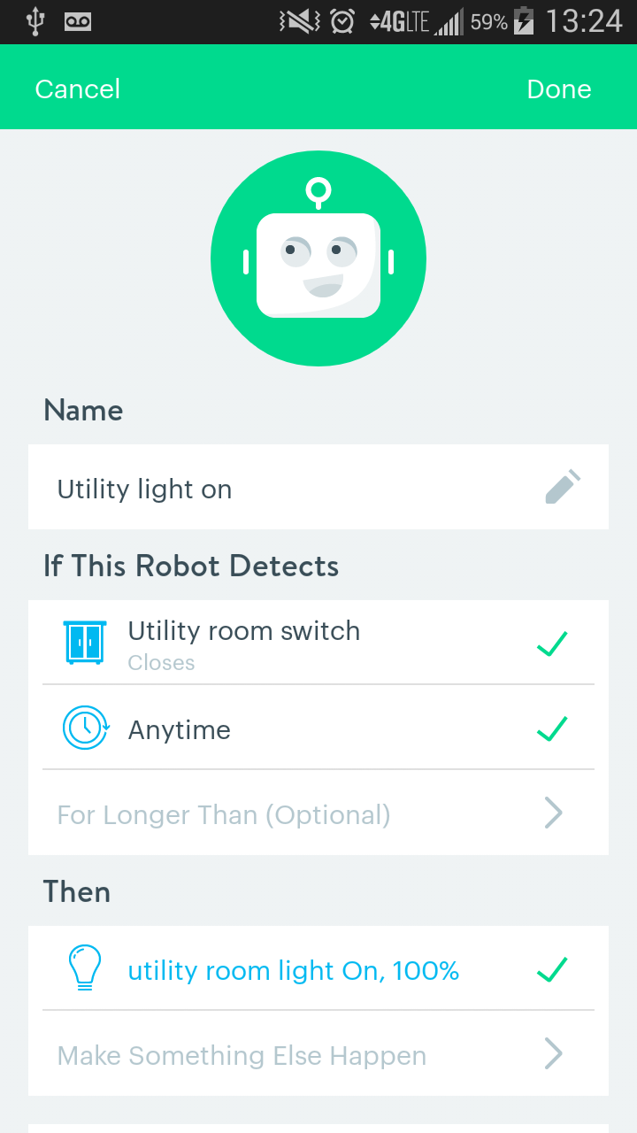Light On Robot