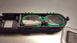 Exposed batteries