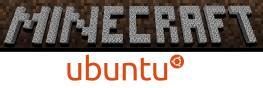 Minecraft and Ubuntu logos